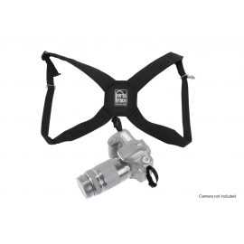 Porta Brace Durable Nylon DSLR Harness with Padded Back Cross-Section   Black