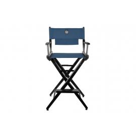 Porta Brace Location Chair | Black Finish, Signature Blue Seat | 30-inch