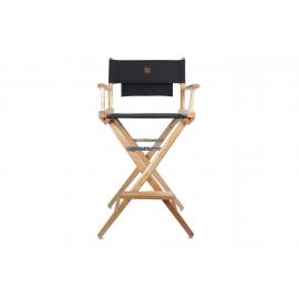 Porta Brace Location Chair | Natural Finish, Black Seat | 30-inch