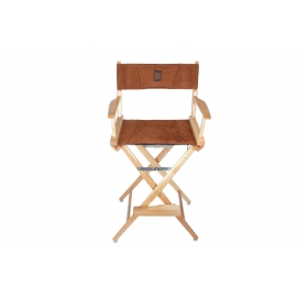 Porta Brace Location Chair | Natural Finish, Ultra Suede Seat | 30-inch