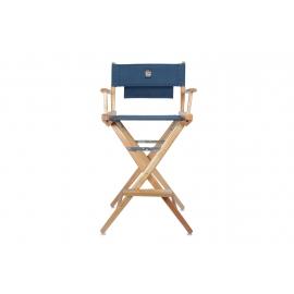 Porta Brace Location Chair | Natural Finish, Signature Blue Seat | 30-inch