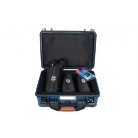 Porta Brace Hard Case | 3 x 7-inch Lens Cups | Blue