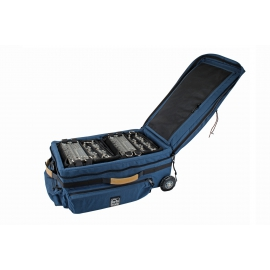 Porta Brace Wheeled Audio Case | Off-Road Wheels | Rigid Frame| Blue