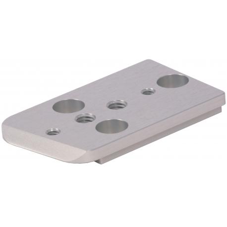 Semelle plate courte séparée pour platine d'épaulière F55