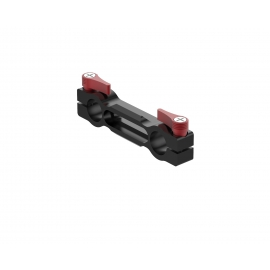 Single sided NATO rail with double 15 mm (60 mm)