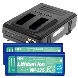 Kit de 2 batteries NP-L7S, 1 x JL-2Plus