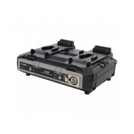 """Chargeur rapide Li-Ion 2 canaux simultanés avec sortie DC XLR 4 pin (100W), power base and """"Life + Mode"""""""