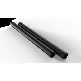 2 Barres 15mm,  fibre de carbone longueur 30cm