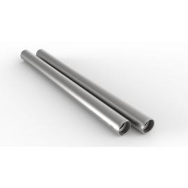 2 Barres 15mm, aluminium longueur 25cm