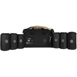 Rigid-frame padded carrying case for multiple lenses (7-inch cups)