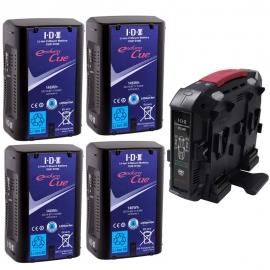 Kit de 4 CUE-D150 + 1 chargeur VL-4X
