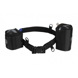 Porta Brace Lens Belt | Nylon belt with 2 Lens Cups | Black | Adjustable