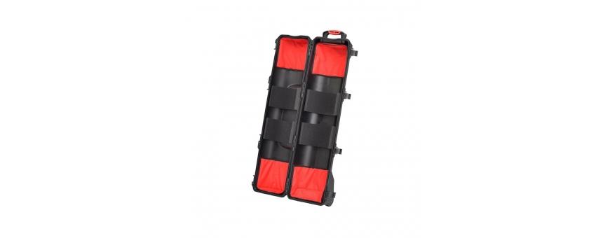 Central Video -  Valise trépieds aménagée -  RESIN CASE HPRC6200 TRIPOD KIT  Valise noire avec mousse prédécoupée et roulettes