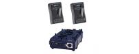 Central Video -  Kits Batterie -  Kit V-Mount pour Blackmagic Cinema Camera  Kit de 2 x Endura CUE-D150, 1 x VL-2X  Kit de 2 x