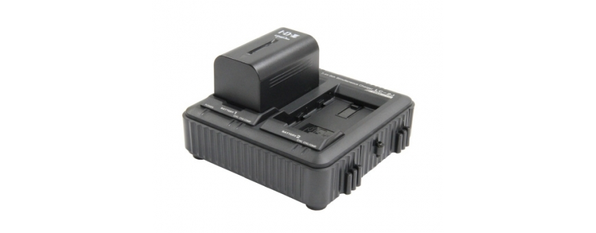 Central Video -  Gamme 7.4V -  Batterie Lithium Ion 7.4V SONY serie L  Kit de  2 x SSL-JVC75, 1 x LC-2J  Chargeur 2 canaux simu
