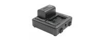 Central Video -  Gamme 7.4V -  Batterie Lithium Ion 7.4V SONY serie L  Kit de  2 x SSL-JVC75, 1 x LC-2J  Chargeur 2 canaux simu