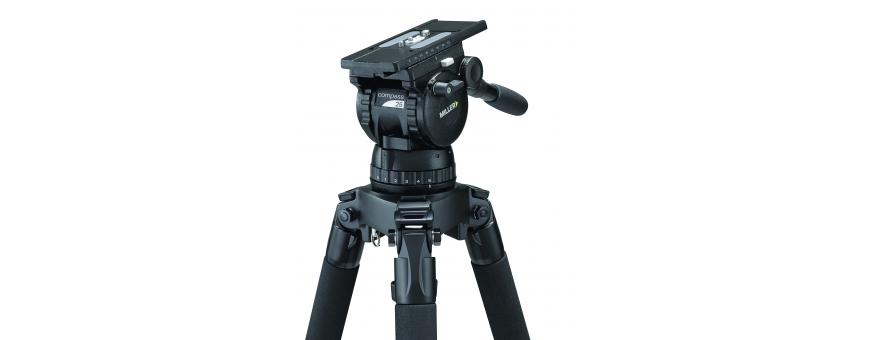 Central Video -  Gamme Compass (de 2 à 14 kg) -  Tête fluide Compass 12 de 2 à 10 kg  Tête fluide Compass 15 de 2 à 9 kg  Tête
