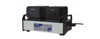 Central Video -  Chargeurs -  HT 2 FAST CHARGER FOR 4 NP 1 - AKKU  CHARGEUR DOUBLE 12V NIMH + NC POUR 16 SR II  CHARGEUR DOUBLE