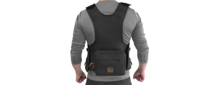 Central Video -  Vestes Audio -  Porta Brace Audio Tactical Vest | Sound Devices 633 |Black  Porta Brace Audio Tactical Vest |
