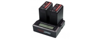 Central Video -  Chargeurs -  Digial Battery Charger DC Power Supply  CHARGEUR DOUBLE REDPRO RP-DC50  Kit Chargeur Batterie Dig