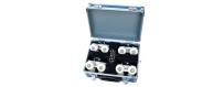 Central Video -  Accessoires pour Dollies cinéma -  Tools in case  Jeu de 4 roues pour rails de Rocker Dolly  Base plate with E