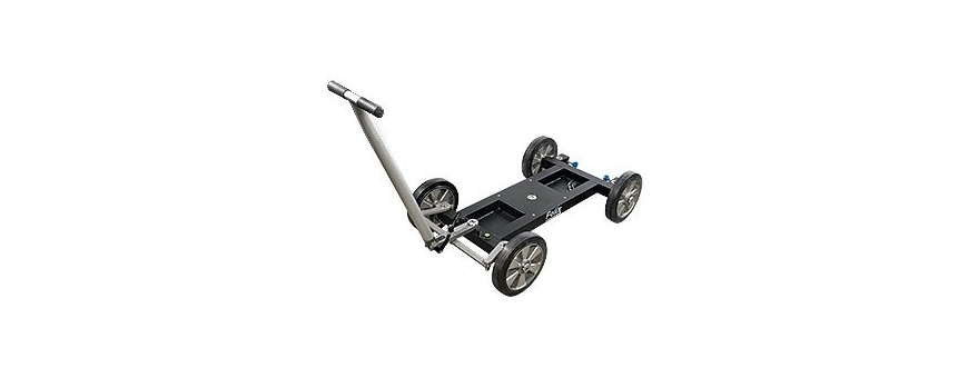 Central Video -  Crane Dolly -  TRANSPORT CASE FOR TRACK WHEELS CD5/7  Crane Dolly CD5 with studio wheels  Crane Dolly CD5 with