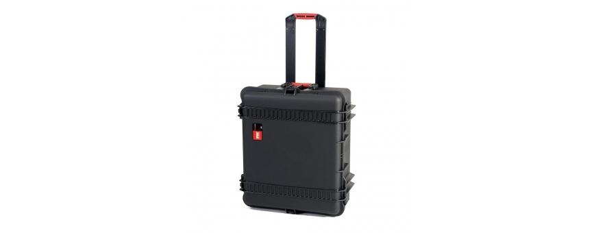 Central Video -  Valises avec roulettes -  Valise étanche avec sacoche amovible et séparateurs  Valise étanche avec mousse préd