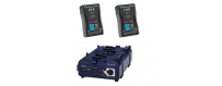 Central Video -  Kits batteries et chargeurs monture V -  Kit V-Mount pour Blackmagic Cinema Camera  Kit de 2 x Endura CUE-D150